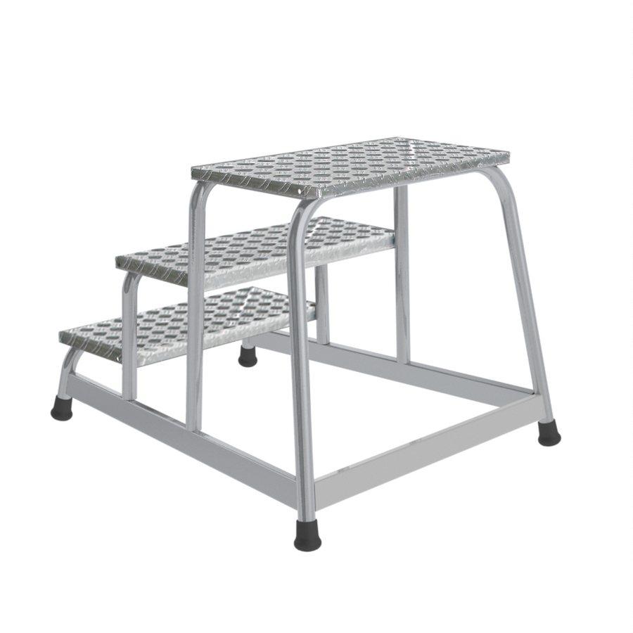 Trittfläche 550 x 300 mm Mit Aluminium-Riffelblech-Stufen Besonders stabil und standfest Geschweißte...
