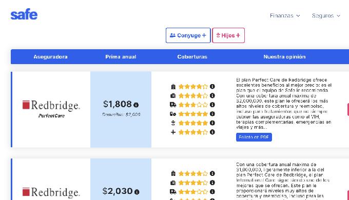 Nuestro comparador te permite tener acceso a los mejores precios de seguros de seguros mécidos de Mé...