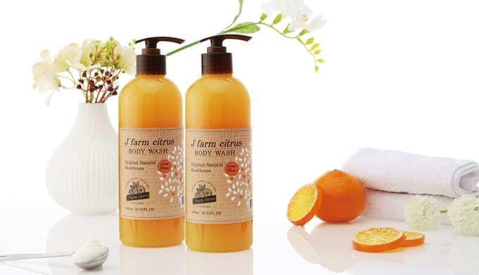 J' farm citrus Jeju Tangerine Natural BodyWash | Natural Ingredients products