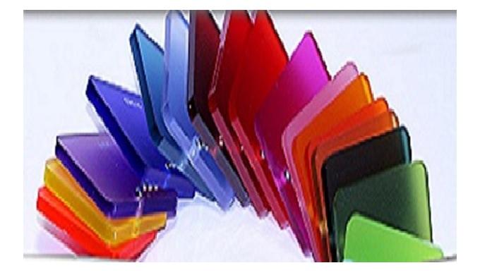 Barevné pískované plexisklo pro reklamu a LED osvětlení