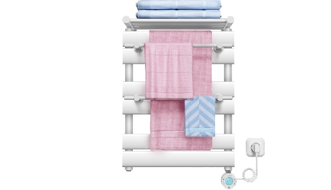The electric towel warmer has the function of drying and sterilizing. Energy saving, environmental p...