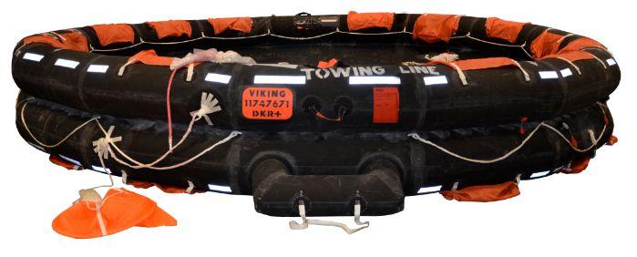 Den åbne reversible redningsflåder er beregnet til evakuerede kan forventes at blive udsat for dårli...