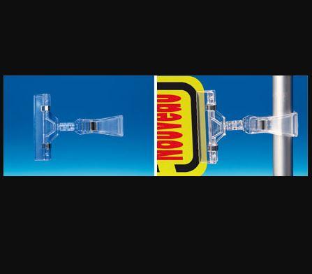 Pince ressort métal - Base tube - Tige 15 mm