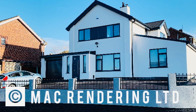 Sheffield Rendering company. Spray render from JOHNSTONE'S - K REND - WEBER - PAREX & MORE. Approved...