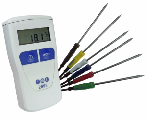 CA2005-PK - Waterproof Colour Coded Catering Kit with Thermometer & 6 Needle Probes