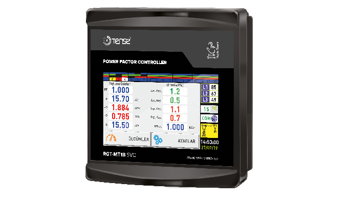 Three-Phase Power Factor Controller with Touch Screen