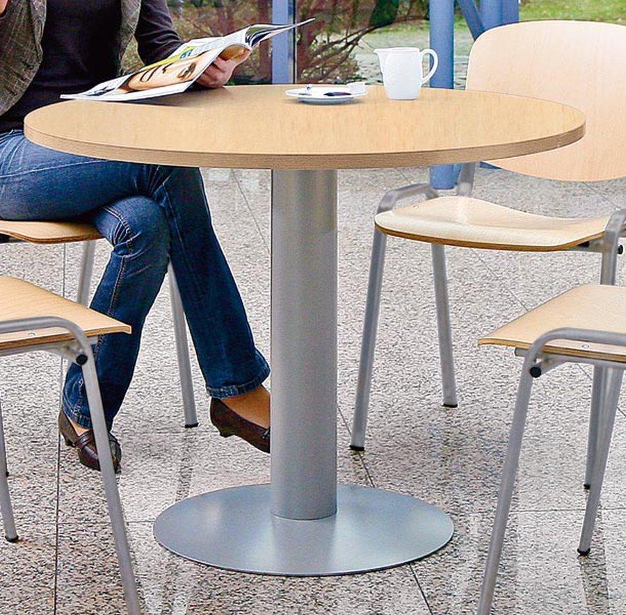 Ø 1000 mm, Höhe 720 mmVielfältig einsetzbarer Tisch, optimal für Besprechungs- oder Sozialräume. 25 ...