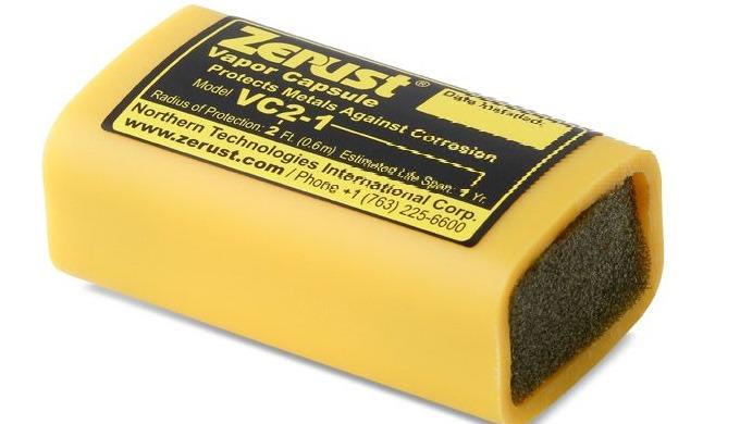 Zerust VC2 1-dampkapslerne er bærbare VCI-emitterkapsler, der indeholder patentanmeldt Zerust®-korro...