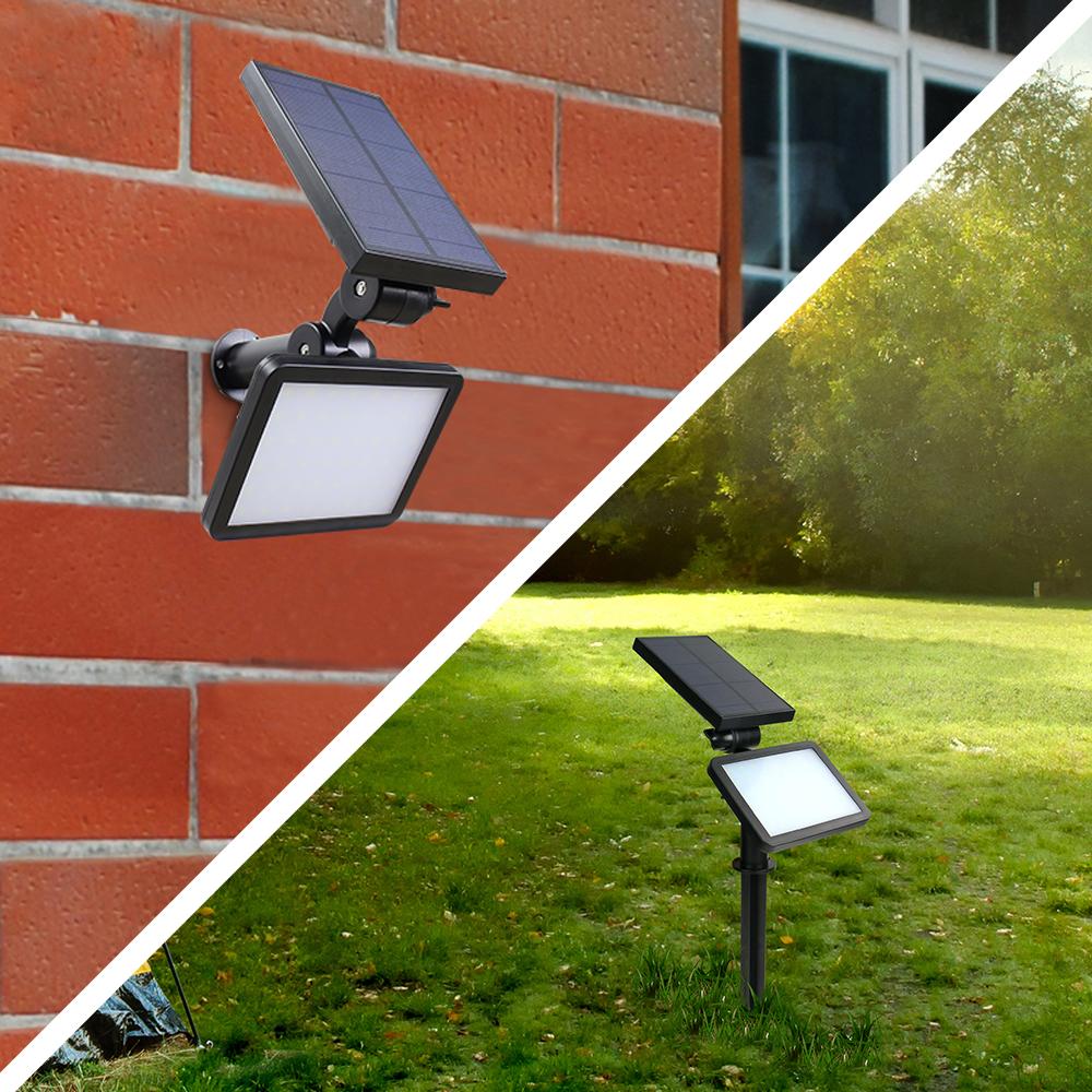 48LEDs EVERMATE Solar Motion Sensor Outdoor Spotlight,Super Bright Landscape Lighting