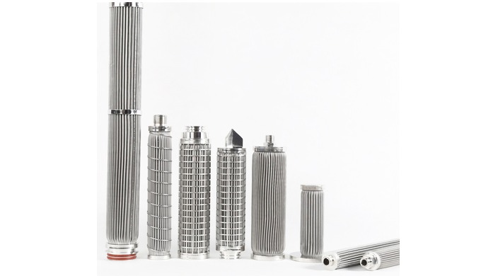 Porous metal filter elements provide a variety of washable stainless steel filter elements in many d...