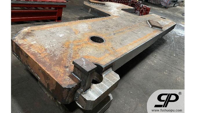 Heavy duty shipbuilding side plate weldment metal fabrication