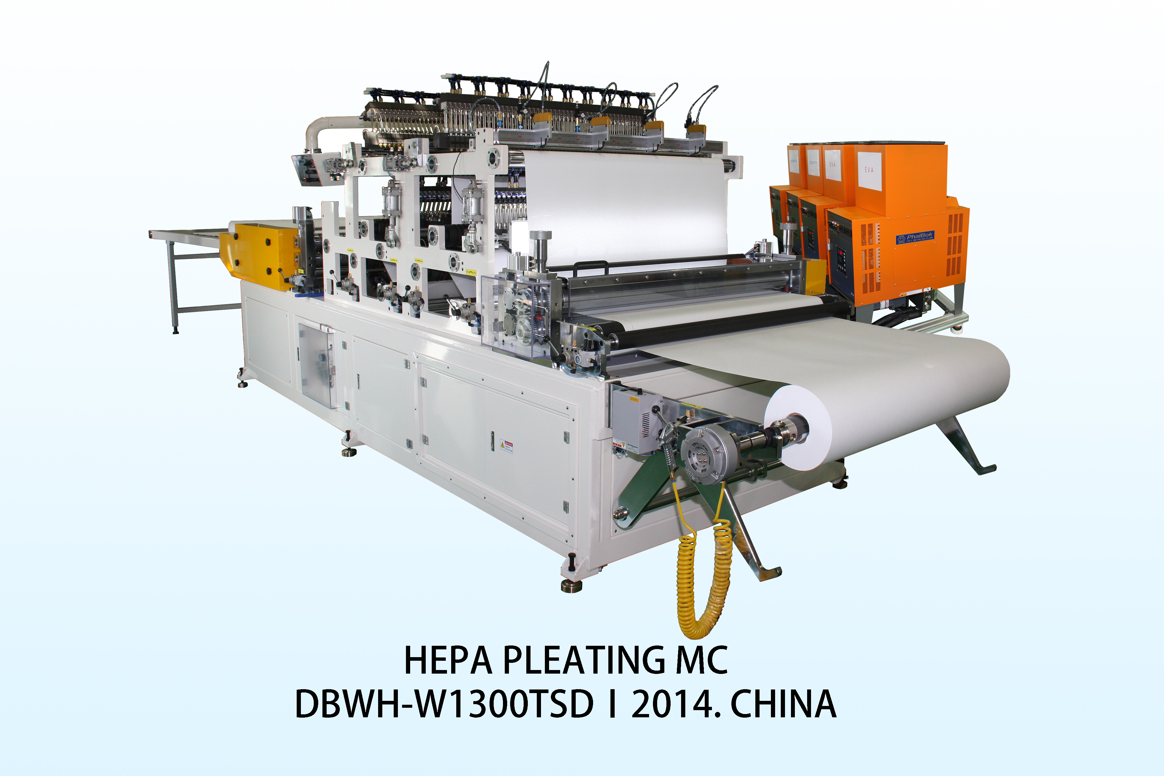Filter media pleating machine for HEPA filters, for semiconductor, medicine manufacturing, hospitals...