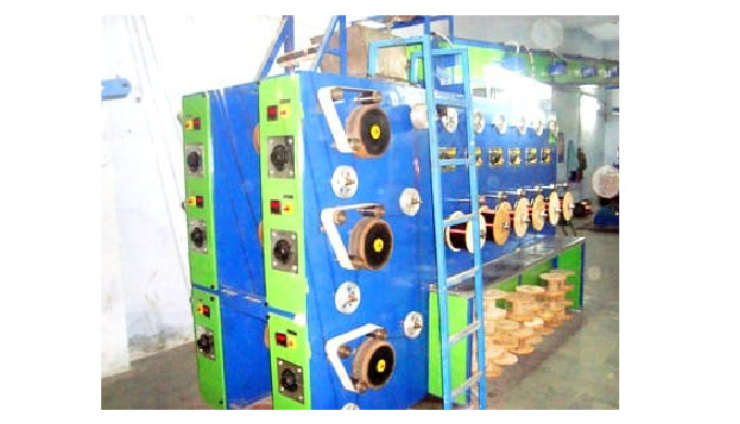 Wire Vertical Enamelling Machine SWG - 16 To 22 MM Size - 1.628 To 0.711