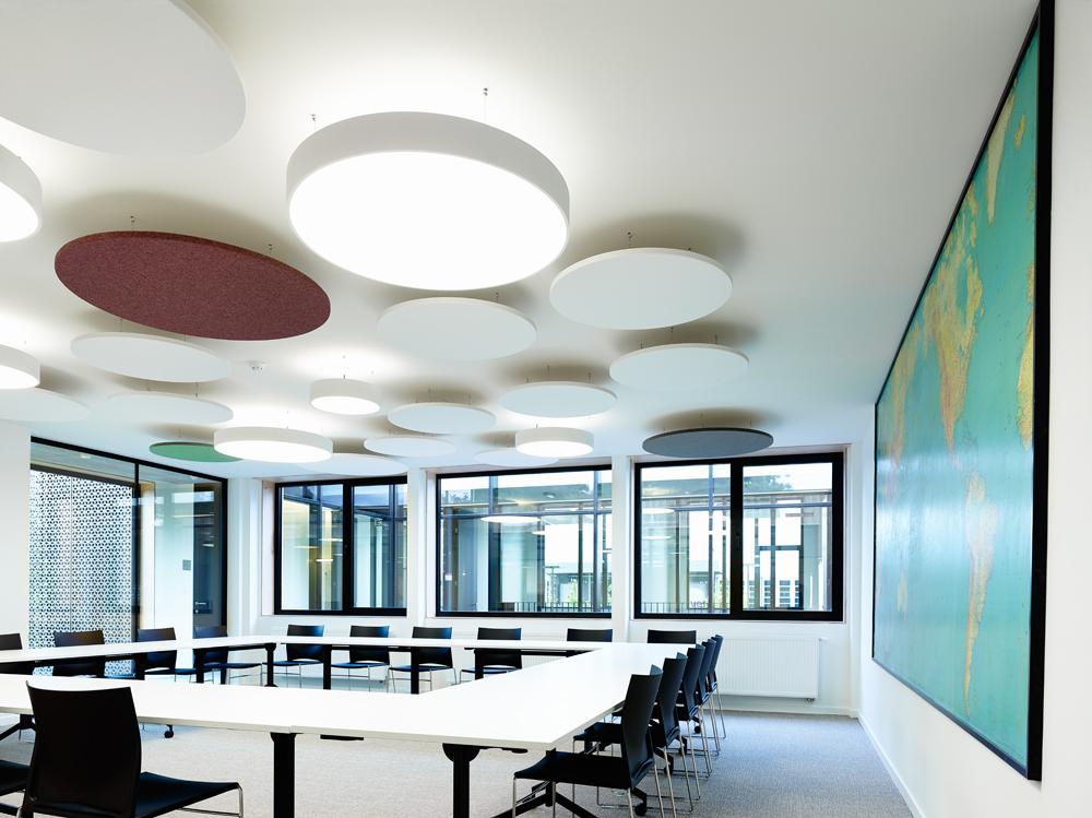 Speelse, budgetvriendelijke, ecologische wand- en plafondpanelen bekleed met textiel Wandpanelen (te...
