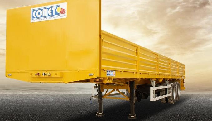 La semi-remorque plateau à 2 essieux COMET est destinée au transport d'une large variété de produits...