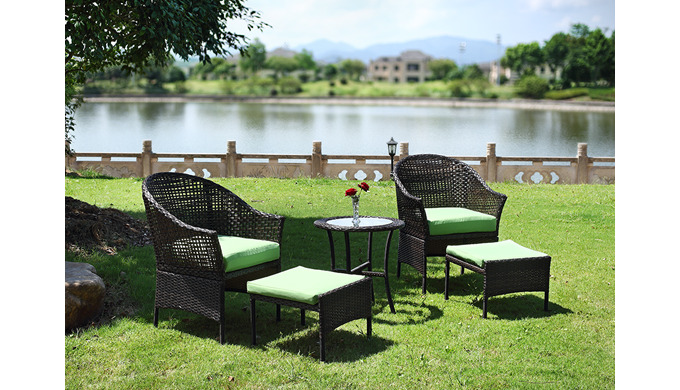 Model No.: Grass green color garden chair set for leisure use Product Size: 2xchair:63x67x87cm 2xsea...