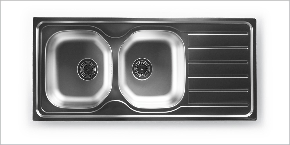 Ae 1165 2 Bowl And Single Tray Inset Kitchen Sink By Evyeluks Metal Sanayi Ve Ticaret Anonim Sirketi