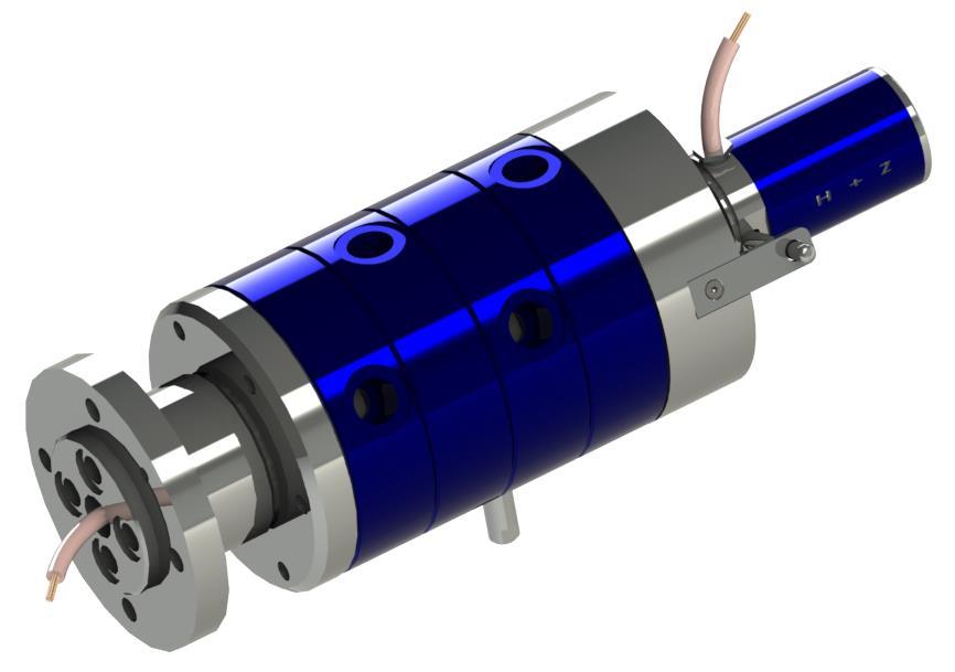 Passages tournants multiples pour eau, air, vide et huile hydraulique avec transmetteur électrique d...