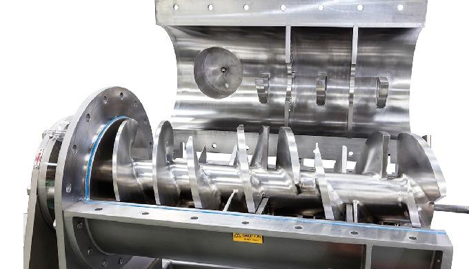 The uniquely designed Hosokawa Micron Extrudomix offers efficient continuous or batch continuous mix...