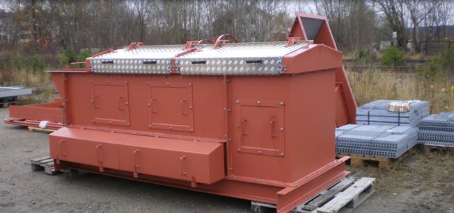 Noxor bygger skivsåll för beredning och sortering av de flesta fasta bränslen såsom flis, spån, bark...