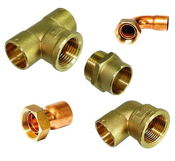 Racores para tubo de cobre