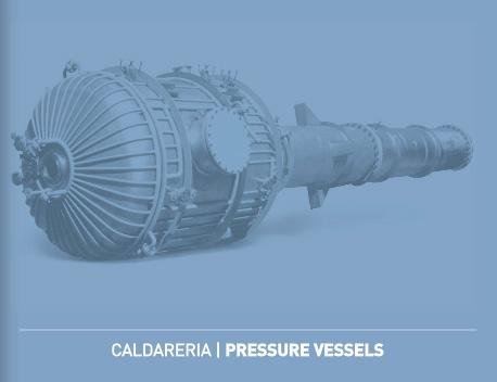 CALDARERIA – reattori, serbatoi, colonne e torce. Diametri fino a 4000 mm e spessori fino a 30 mm. T...