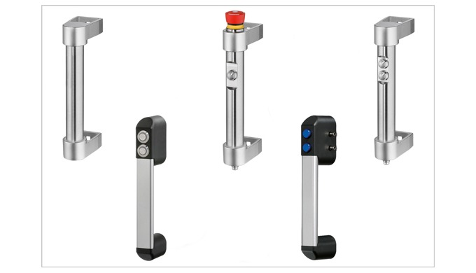 New Elesa IP65 interlock handles in stainless steel and aluminium, with electronic and pneumatic pushbuttons