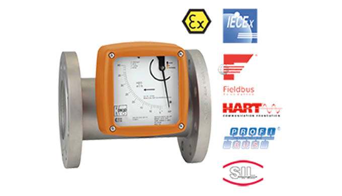 Mess- /Schaltbereich: 10 - 100 ... 4000 - 40000 l/h Wasser 0,3 - 3,0 ... 110 - 1100 Nm³/h Luft Ansch...