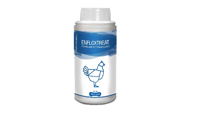 ENFLOXTREAT Enfloxtreat is 10% w/v oral solution of Enrofloxacin for Poultry (Broilers) Treatment of...