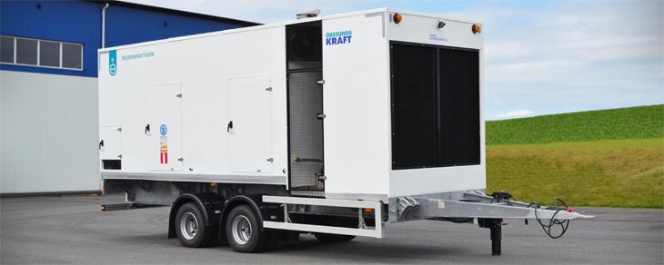 Mobila Ljudisolerade Generatoraggregat för att få reservkraft20kVA till 1250kVA i urförande 30 alt. ...