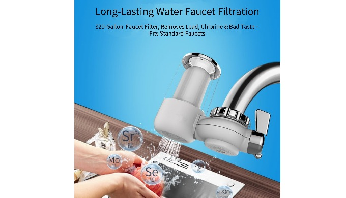 ACF Faucet Filtration System with Multi-Stage Filtration Effectively Reduces Lead and Chlorine in Ta...