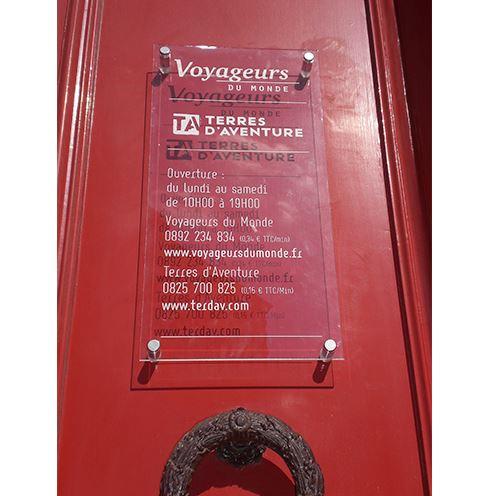 Plaque plexi Pano Sign'service