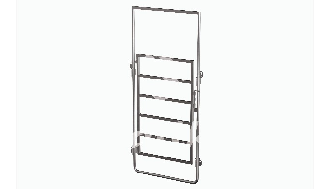 Connection frame with gate ( helps in building a pathway for cattle testing or moving while controli...