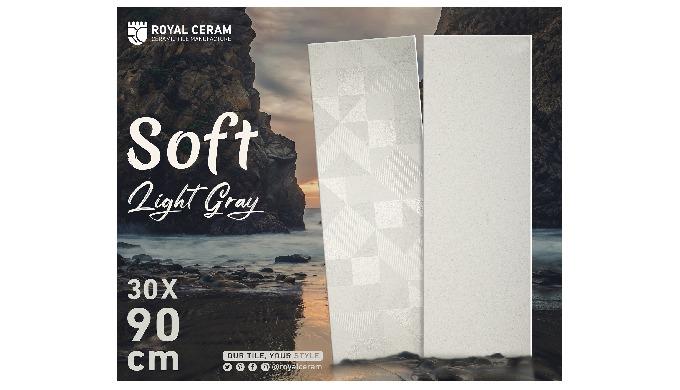 Size: 30x90cm Color: Light Gray Type: Wall Tile Finish: Matt