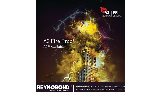 Reynobond FR Series patented core formulation with a high percentage of Magnesium Hydroxide, Alumini...
