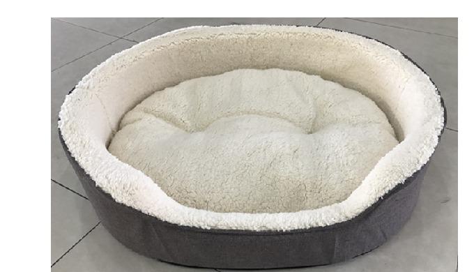 Solid foam linen dog bed Item No.WY180305A/C 3pcs/set Size: A: 71x58x17.5cm; B: 61x50x17.5cm; C: 50x...