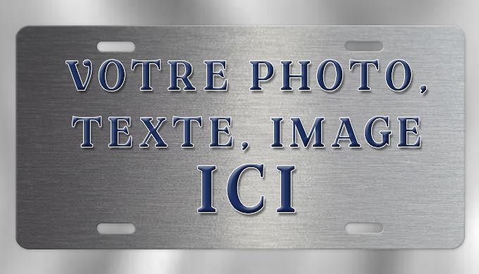 Plaque d'immatriculation type USA 28,5 x 14,5 cm. Personnalisable avec vos photos, textes, logos, im...