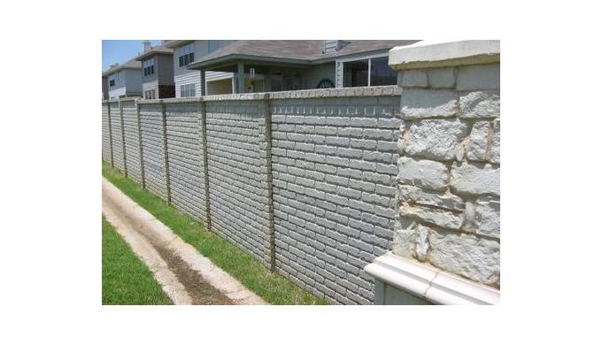 Заборы двухсторонние бетонные Iacobaş Construct SRL предлагает двухсторонние секции забора размером ...