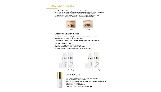 Lash Lift Products