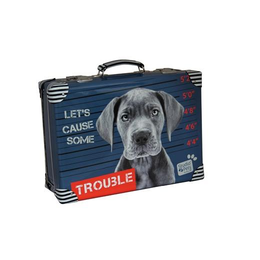 Riveted suitcase 40cm, Trouble Studio Pets collection