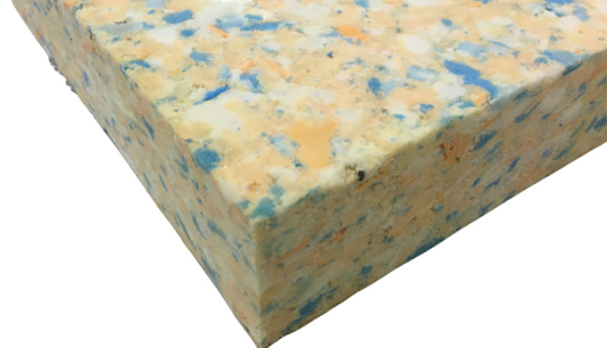 5cm (2 inches) thick, high density reconstituted chip foam. Ideal for yoga mats, seats, stools, gard...