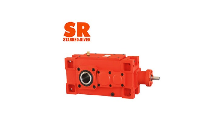 The gear of the orthogonal shaft industrial gearbox is made of special steel through advanced proces...