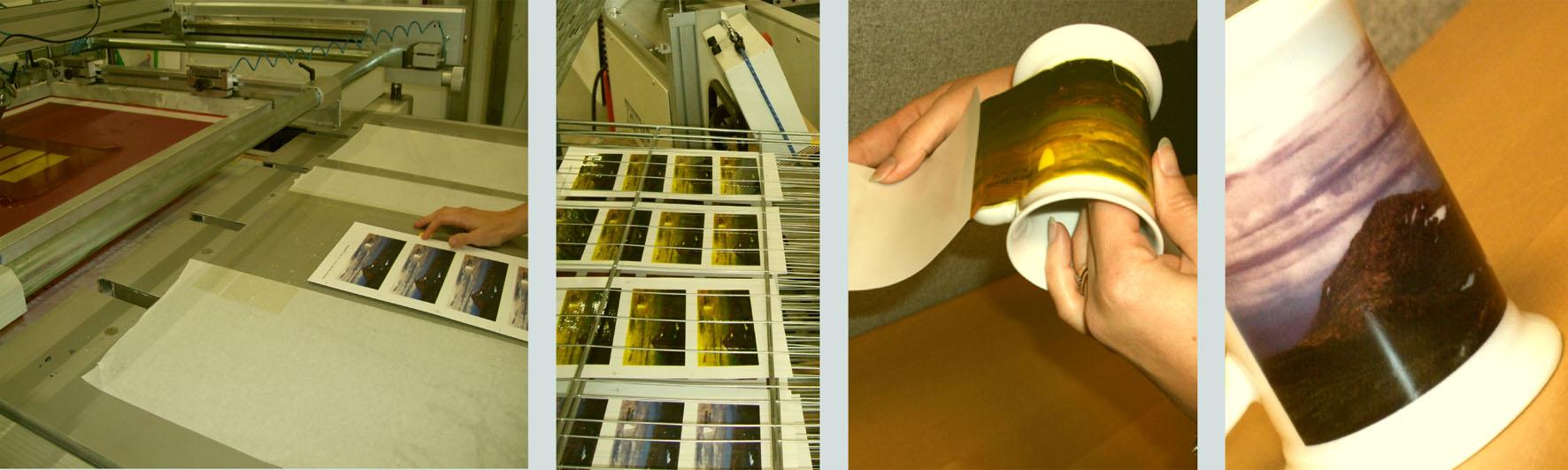 Keramisk trykk på krus og glass