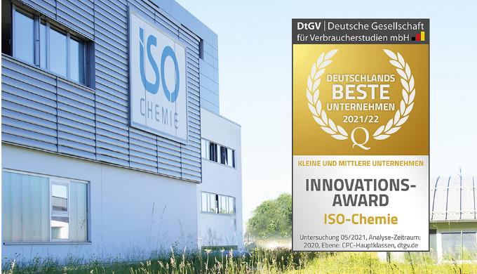 """ISO-Chemie mit """"KMU Innovations-Award 2021/22"""" ausgezeichnet"""