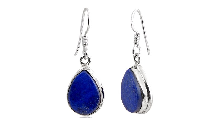 Material : - 925 Sterling Silver Gemstone : - Lapiz Lasuli ( All types of Gemstones Avaailable ) Dea...