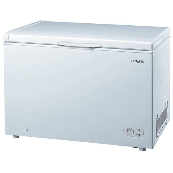 Energeticky úsporná truhlicová mraznička Goddess FTD0300WW9 v energetické třídě A++ s užitným objeme...