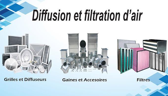 Diffusion et Filtration d'air