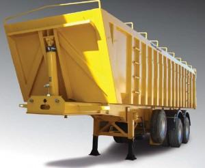 Véhicules conçus pour le transport de céréales et produits granuleux, charge uniformément répartie à...