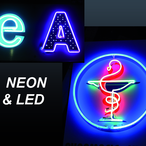 Création d'enseignes pour toutes les façades : enseignes lumineuses, néon animé, néon de toutes les ...