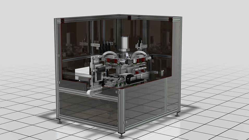 Automatische Partikelprüfanlage für 100% Partikelprüfung von BFS Einzelbehälter und Ampullenblöcke u...
